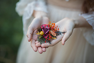 """Brošne - Kvetinová brošňa """"chuť dozrievania"""" - 13726510_"""