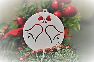 Dekorácie - Vianočná ozdoba - zvončeky - 13727234_