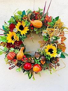 Dekorácie - Jesenný veniec-farebná jeseň - 13726561_