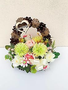 Dekorácie - Spomienková dekorácia (Šiškový košík) - 13727710_