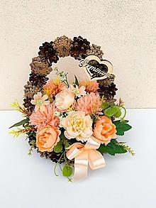 Dekorácie - Spomienková dekorácia (Šiškový košík) - 13727712_