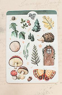 Papier - Samolepky - Prechádzka lesom - 13728140_
