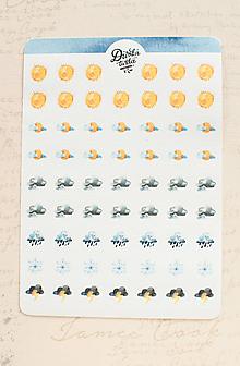 Papier - Samolepky - Počasie do diáru/ list / jornal - 13728167_