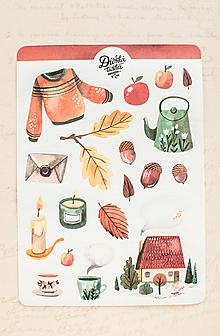 Papier - Samolepky - Cozy jeseň - 13728183_