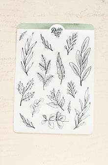 Papier - Samolepky - Botanical - 13728208_