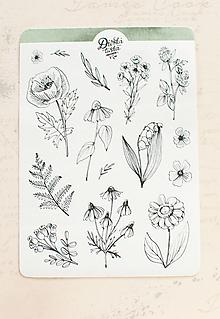 Papier - Samolepky - Botanical II. - 13728213_