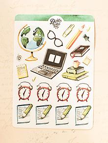 Papier - Samolepky - Pracovné plány - 13728261_