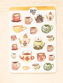 Papier - Samolepky - Tea / Coffee time - 13728271_