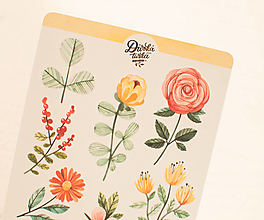 Papier - Samolepky - Floral - 13728283_