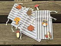 Úžitkový textil - vrecúško pásikavé + 2 ks štipček - 13727949_