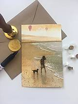 Papier - Pohľadnica Prechádzka po pobreží - 13727005_