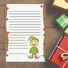 Papiernictvo - Vianočný list vianočný škriatok digitálny - 13726137_
