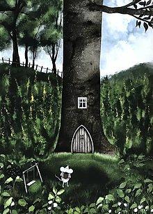 Obrazy - Myska v lese / reprodukcia - 13729385_