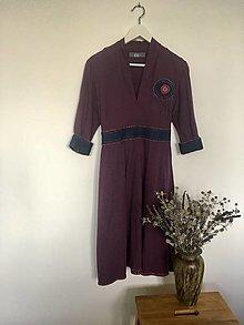 Šaty - Šaty bavlnené fialové veľ.36 - 13729894_