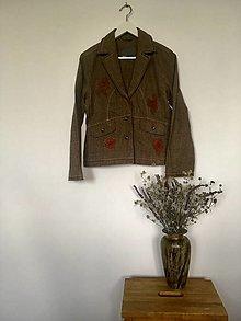 Kabáty - Sako kárované s aplikáciou veľ.40 - 13729914_