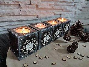 Svietidlá a sviečky - Adventné svietniky - 13729242_
