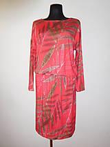 Šaty - Červené s rezavými listy - 13731584_