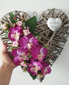 Dekorácie - Smútočné srdce 37x37cm - 13730695_