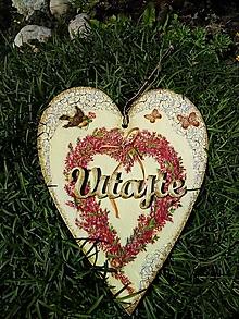 Dekorácie - Dekoračné srdce - Srdiečkový venček - 13730696_