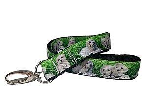 Kľúčenky - Kľúčenka White dog - 13732520_