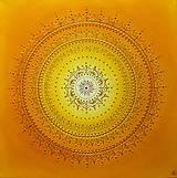 Obrazy - SLNEČNÁ MANDALKA - kvet šťastia 50 x 50 - 13732736_