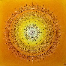 Obrazy - SLNEČNÁ MANDALKA - kvet šťastia 50 x 50 (50 x 50 cm) - 13732736_