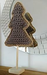 Dekorácie - Stromček háčkovaný coffee - 13730359_