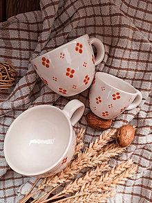 Nádoby - Hrnek bílý Šálek 4puntík oranž - espresso, lungo, cappuccino - 13729834_