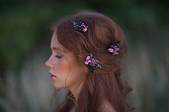 """Ozdoby do vlasov - Kvetinové sponky """"na rozlúčku""""  - 13731493_"""