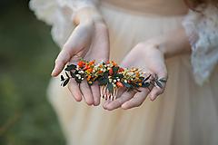 """Ozdoby do vlasov - Kvetinový hrebienok """"jesenná romanca"""" - 13731598_"""
