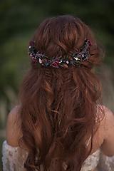"""Ozdoby do vlasov - Kvetinový polvenček """"na les padá noc"""" - 13731903_"""