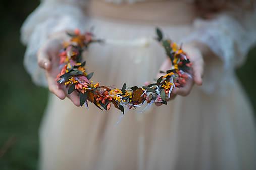 """Kvetinový venček """"letmé dotyky slnka"""""""
