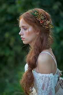 """Ozdoby do vlasov - Kvetinová aplikácia """"šepot trávy na jeseň"""" - 13731164_"""