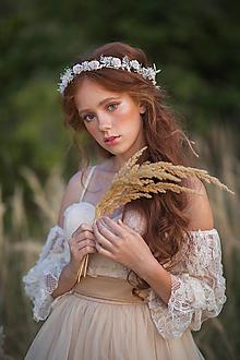 """Ozdoby do vlasov - Kvetinový venček """"rosa na svitaní"""" - 13731221_"""