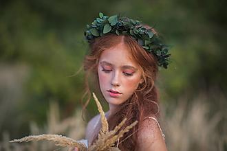 """Ozdoby do vlasov - Greenery venček """"blúdenie v raji"""" - 13731276_"""
