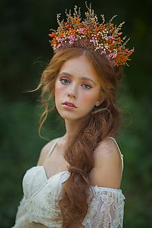 """Ozdoby do vlasov - Kvetinová boho korunka """"čas sľubov"""" - 13731420_"""