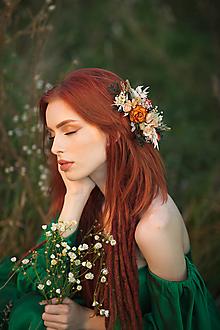 """Ozdoby do vlasov - Kvetinový hrebienok """"clivé stmievanie"""" - 13731669_"""