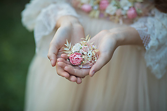 """Brošne - Kvetinová brošňa """"nestrať si ma"""" - 13732296_"""