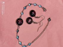 Sady šperkov - Sada - náramok +náušničky - 13731474_