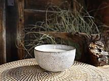 Svietidlá a sviečky - Vonná sójová sviečka v miske - 13729435_