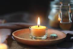 Svietidlá a sviečky - Sklenený kalíšok na sviečku - 13732641_