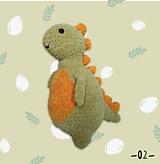 Hračky - Háčkovaný plyšák Dinosaurus Frank - 13731884_