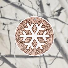 Dekorácie - (s)Nežné vianočné ozdoby snehová vločka (fantázia) - 13731450_