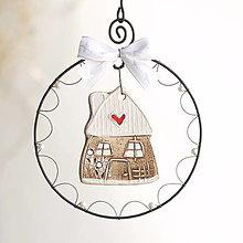 Dekorácie - domček v zimnom šate - 13734027_