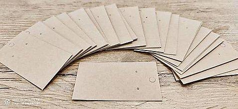 Obalový materiál - Kartička na šperky - 5 x 9 cm  (Béžová) - 13735374_