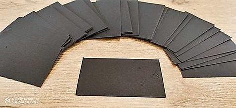 Obalový materiál - Kartička na šperky - 5 x 9 cm  (Čierna) - 13735375_