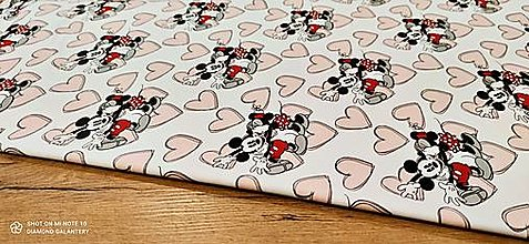 Textil - Teplákovina - Mickey VI - cena za 10 centimetrov - 13736023_