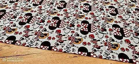 Textil - Teplákovina - Mickey VII - cena za 10 centimetrov - 13736074_