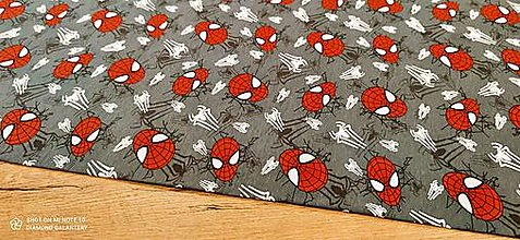 Textil - Teplákovina - Spiderman - cena za 10 centimetrov - 13736153_