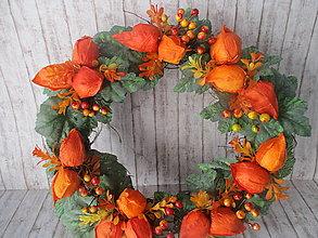 Dekorácie - Jesenný veniec - 13734627_